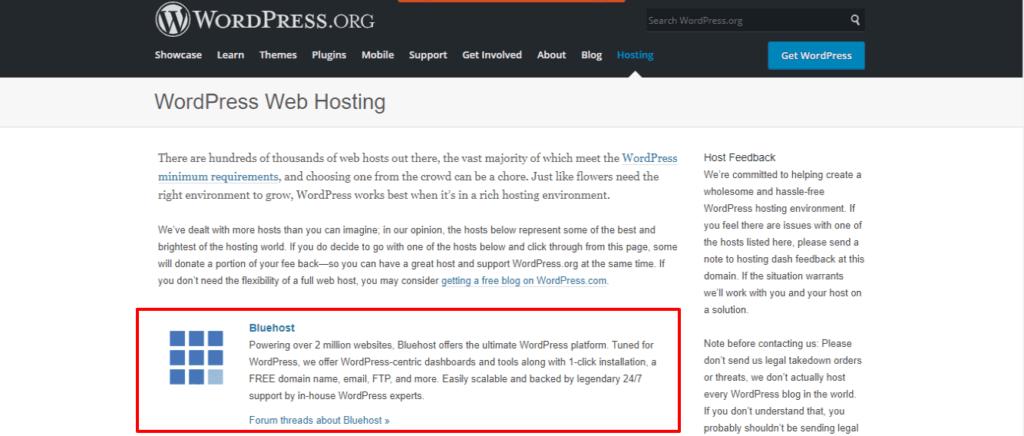 Bluehost WordPress Hosting Recommendations